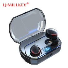 Original LJ-MILLKEY TWS Bluetooth Earphone Stereo bass Bluetooth 5.0 Eeadphones With Mic Handsfree Earbuds AI Control YZ260 xiaomi tws airdots bluetooth earphone youth version stereo bass bt 5 0 headphones mic handsfree earbuds ai control