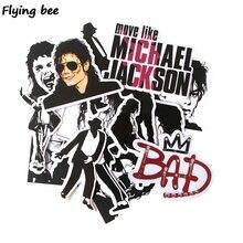 Flyingbee, 16 Uds., pegatinas Punky de famoso músico, Graffiti, impermeable, Maleta de skateboard, pegatinas para ordenador portátil, X0279
