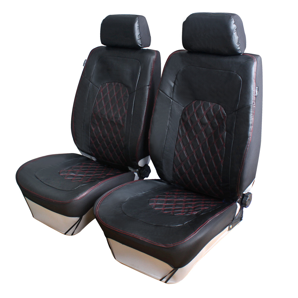 breathable pu leather front car seat covers universal fit car interior accessories summer winter. Black Bedroom Furniture Sets. Home Design Ideas