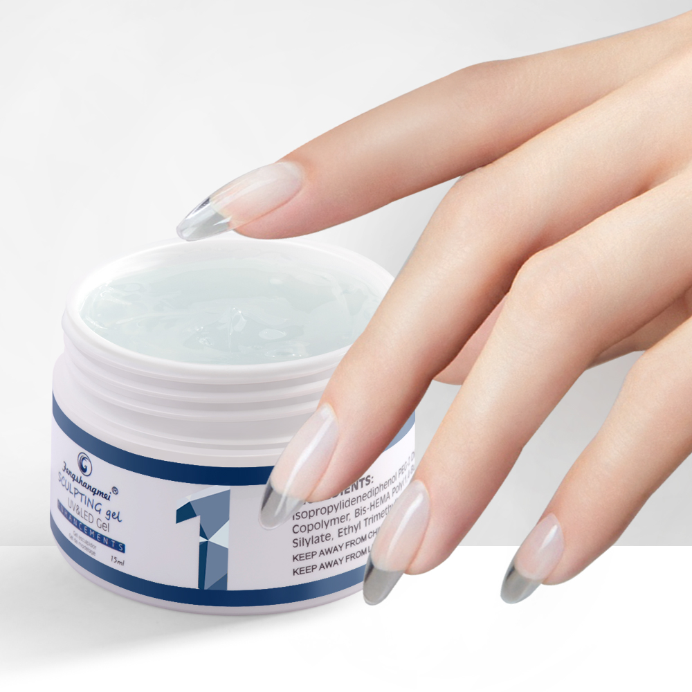Fengshangmei 15ml UV Gel For Nail Extensions Camoufalge Builder Gel Nail Polish Varnish 3D Thick Construtor Gel For Building