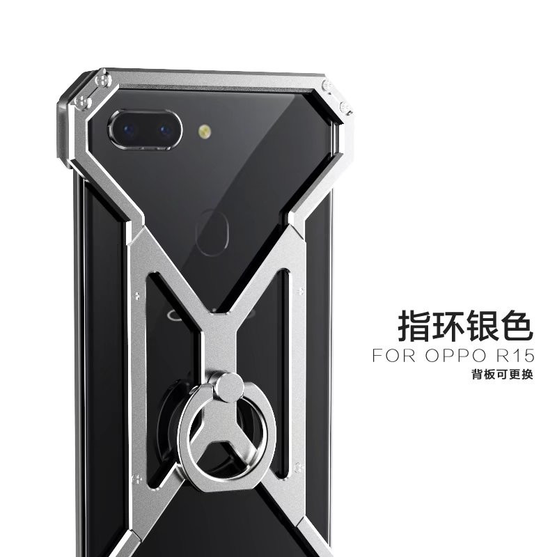 2018 Luxury Cool Spider -Man Case For Oppo R15 Metal Aluminum Alloy Shockproof Armor Cases Cover Anti-Knock Fundas Coque