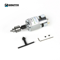 Awesome 775 Motor High Torque Drills Grinders Ball Bearing Fan Micro Motor Hand Drill Jewelcrafting PCB