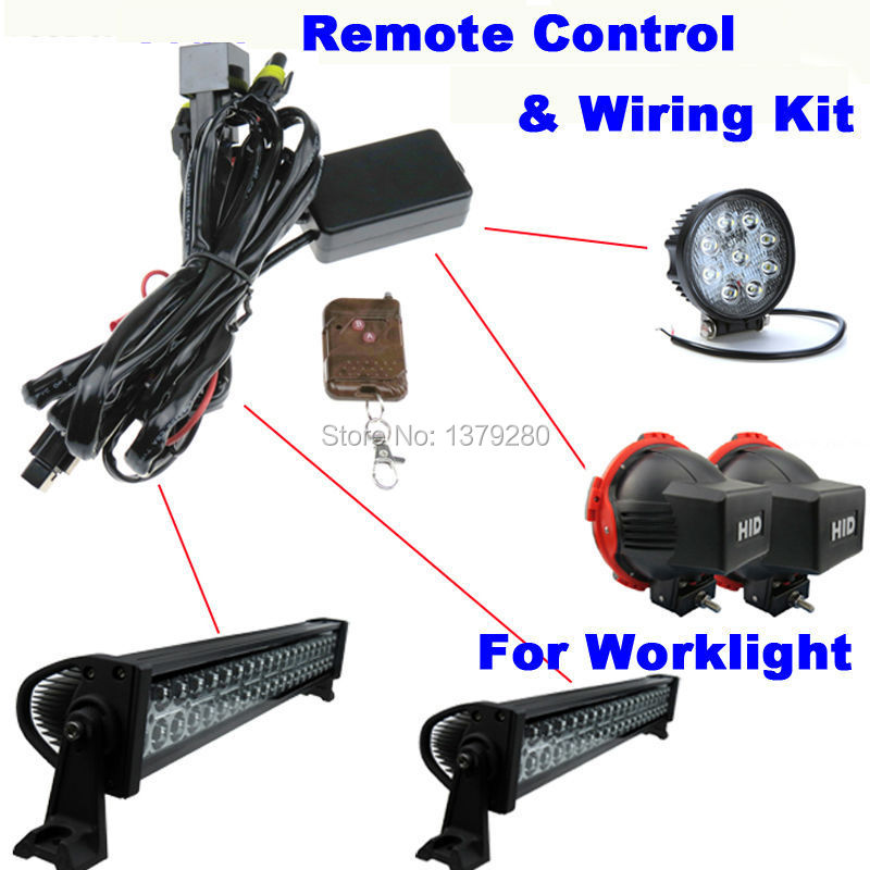 Universal Remote Control Wiring Harness  U0026 Switch Kit For Led Hid Off Road Work Light Drive