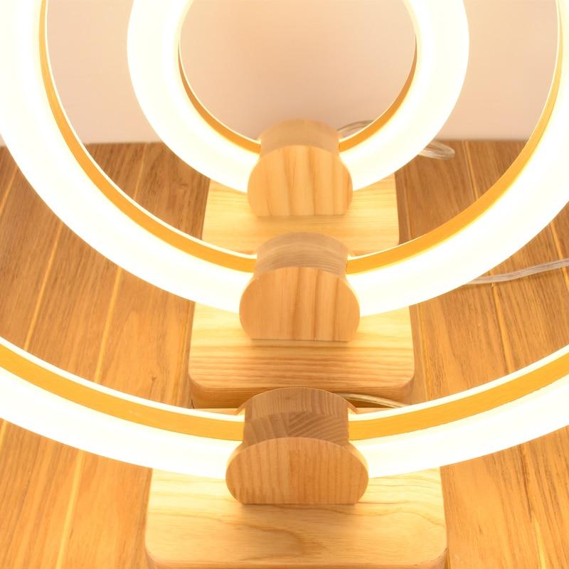 Beste LED Wood table lamps bedroom bedside fixtures desk writing VB-87