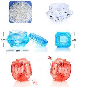 Image 4 - Flacon vide 3g/5g 3ml/5ml, conteneur de maquillage, crème cosmétique de visage, lèvres, baume, Pigment, Nail Art, perles scintillantes, 100 pièces