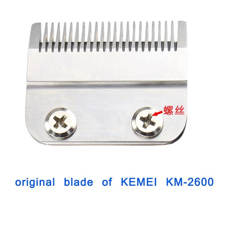 Kemei 2600 استبدال شفرة مقص الشعر شفرة الحلاقة القاطع رئيس ل الكهربائية الشعر المتقلب آلة الحلاقة المقص قطع آلة