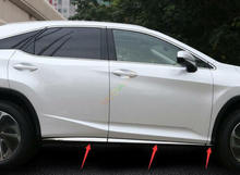 For 2016-2018 Lexus RX350 RX450h/200 Stainless Body Side Door Molding Cover Trim
