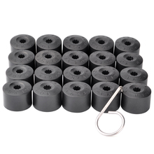 20Pcs 17mm Wheel Nut Bolt Protection Caps Car Tyre Wheel Hub Covers For Volkswagen Passat Jetta Polo Golf MK4 Touran Audi Beetle