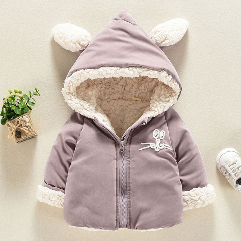 bbb220ed491a For Winter baby boys girl clothes outfits overalls thick warm lambs ...