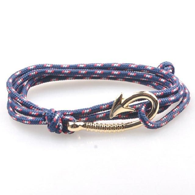 Förderung Mode Armband Seil Wrap Fisch Haken Anker Armbänder Ruder
