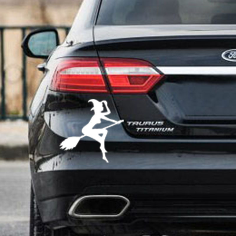 12*11.4cm Reflective Car Stickers sexy witch Decal cover/anti for body Light brow front  ...