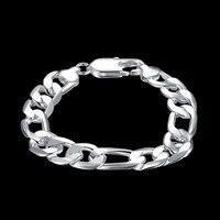 925 Silver Side Swing Bracelet Male Foreign Trade 12M Three Simple One Bracelet Fashion Geometric Feijia