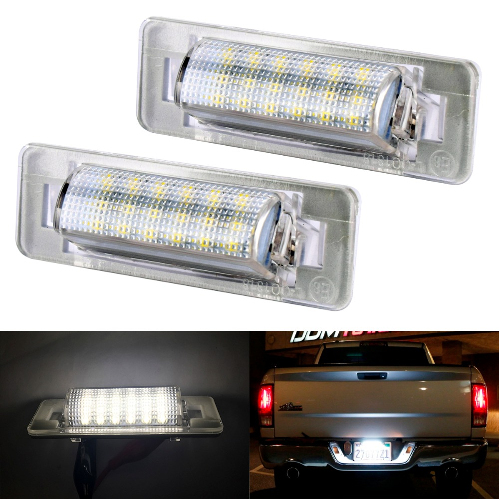 2pcs LED License Plate Lamps OBC Error Free canbus For Mercedes Benz W210 W202 E300 E55 C230 C43 AMG Sedan Facelif 2 x led number license plate lamps obc error free 24 led for bmw e39 e80 e82 e90 e91 e92 e60 e61 e70 e71