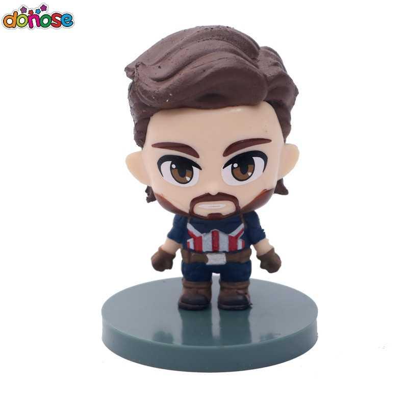 6 шт. Marvel Мстители фигурка игрушка Бесконечная война танос Железный человек Человек-паук Капитан Америка Доктор Стрэндж детская игрушка-фигурка