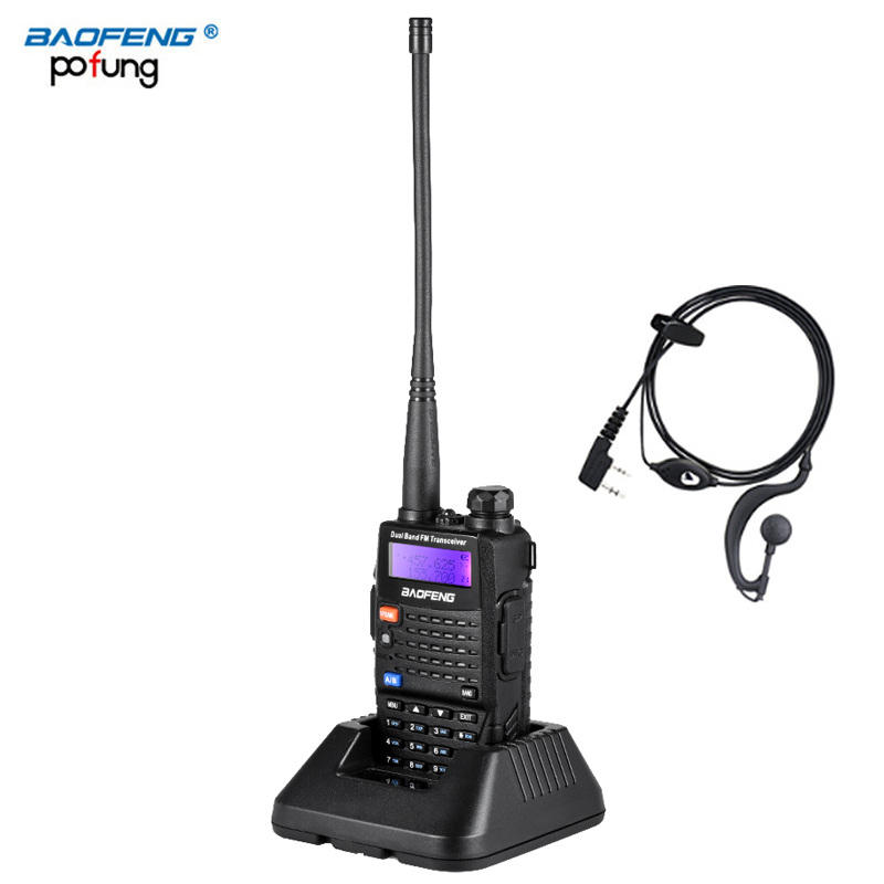 Baofeng UV 5RC Walkie Talkie Dual Double Band Ham VHF UHF Radio Station Transceiver Boafeng Communicator Walkie Talkie Handheld-in Walkie Talkie from Cellphones & Telecommunications