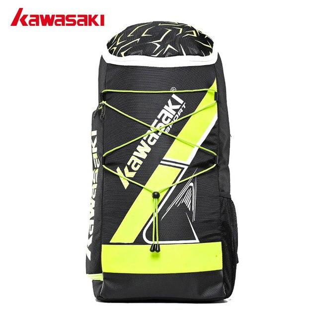 Kawasaki Badminton Bag Backpack Three Racket Capacity Men Women Badminton Tennis Racket Back Pack Racquet Sports Bags 8230