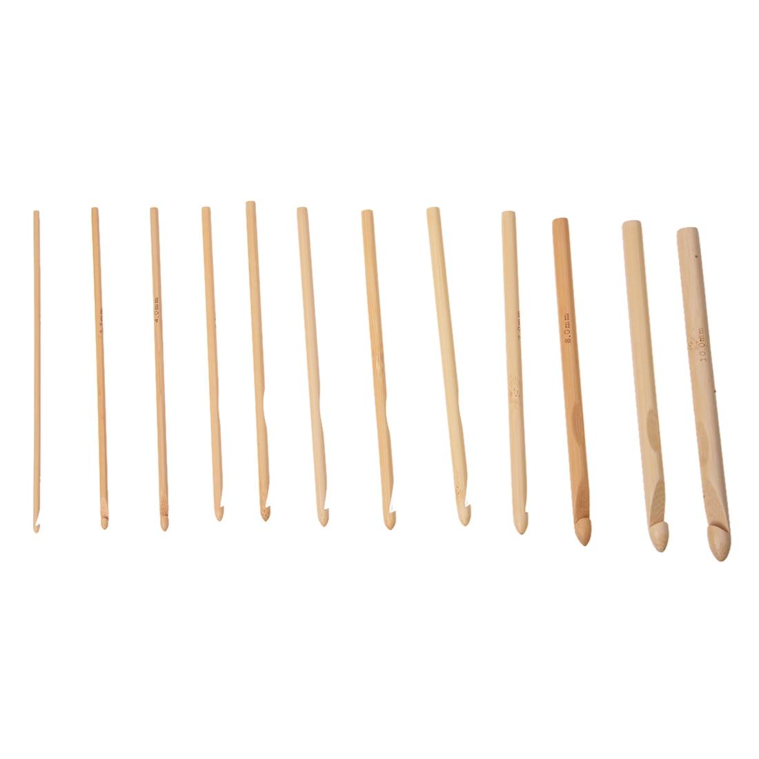 18 Sizes 2.0mm-10.0mm 80 cm Circular Needles and 12 Sizes 3,0-10mm Bamboo Crochet Hook Knitting Needles 1
