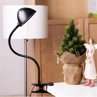 Portable Reading Light Fashion Design Button Switch Adjustable Itensity USB Rechargeable LED Desk Table Lamp With Clip
