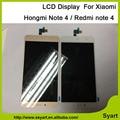 1 pcs branco e cor de ouro venda quente cor preta display lcd + touch screen digitador assembléia para xiaomi redmi note 4