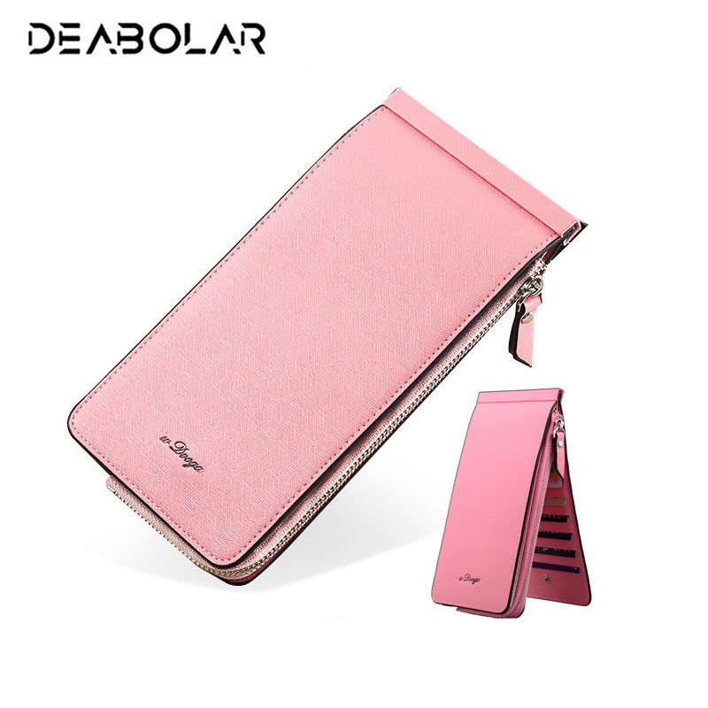 High Quality Long Style Ultrathin Bank Card Sets Women Men Multi Bits Credit Card Holder Large Capacity Wallet Zipper Purse
