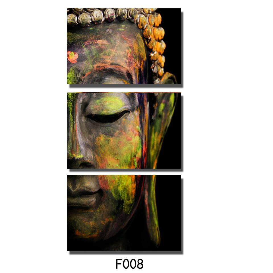Art Picture Buddha Oil Effect Painting Wall Art Paintings Picture Paiting Canvas Paints Home Decor Cuadros Decoracion Framed