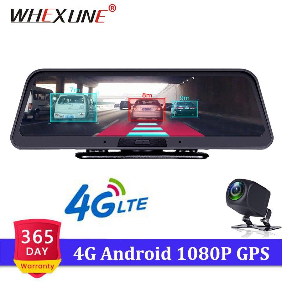 WHEXUNE 4G ADAS Car Dashcam Android 5.1 WiFi DVR Camera Full HD 1080P Dual Lens 10 Auto Dash Cam GPS Navigator Parking MonitorWHEXUNE 4G ADAS Car Dashcam Android 5.1 WiFi DVR Camera Full HD 1080P Dual Lens 10 Auto Dash Cam GPS Navigator Parking Monitor