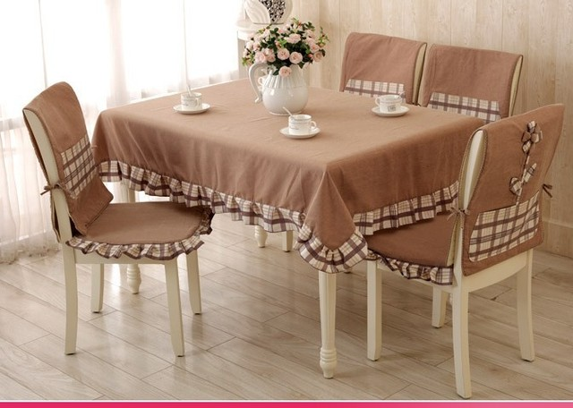 Aliexpress Buy H14 Brown Patchwork plaid TableCloth Set – Chair and Table Covers