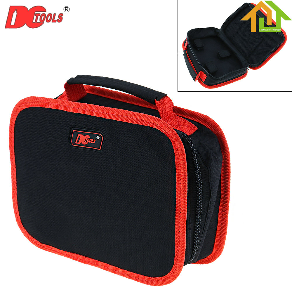 Electric Screwdriver Portable pockets Oxford Cordless Drill Waist Tool Bag with Waist Buckle and Hook Loops tool bag electric kit waterproof buffer kit nylon open tote bucket organizer electrician pockets portable pack oxford toolkit