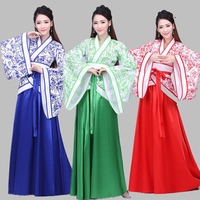 Hanfu Women Adult Traditional Ancient Chinese Costume Chinese Folk Dancer Clothes Fairy Dress Woman Performance Wear DNV10943