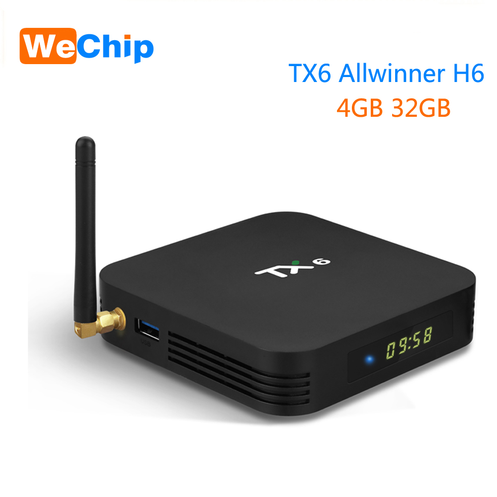 Wechip TX6 Astuto di Android 9.0 TV BOX 4G 32G Allwinner H6 Quad core 2.4G Wifi Set Top box 4 K HD Media player 2G 16G Scatola PK X96 maxWechip TX6 Astuto di Android 9.0 TV BOX 4G 32G Allwinner H6 Quad core 2.4G Wifi Set Top box 4 K HD Media player 2G 16G Scatola PK X96 max