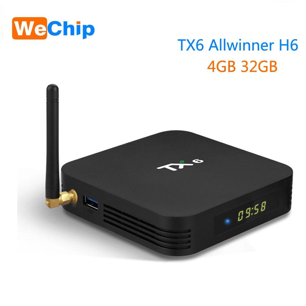 Freundschaftlich Wechip Tx6 Smart Android 9.0 Tv Box 4g 32g Allwinner H6 Quad Core 2,4g Wifi Set Top Box 4 K Hd Media Player 2g 16g Box Pk X96 Max Hohe Sicherheit Tv-receiver