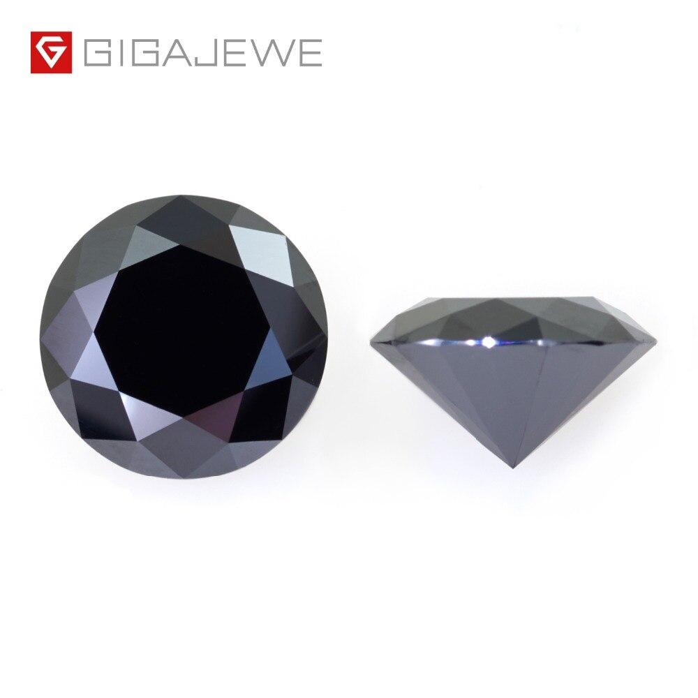 GIGAJEWE Moissanite noir 6.5mm rond coupe lâche pierre laboratoire diamant bricolage bijou bijoux faisant des charmes de mode femme petite amie cadeau-in Perles from Bijoux et Accessoires    1