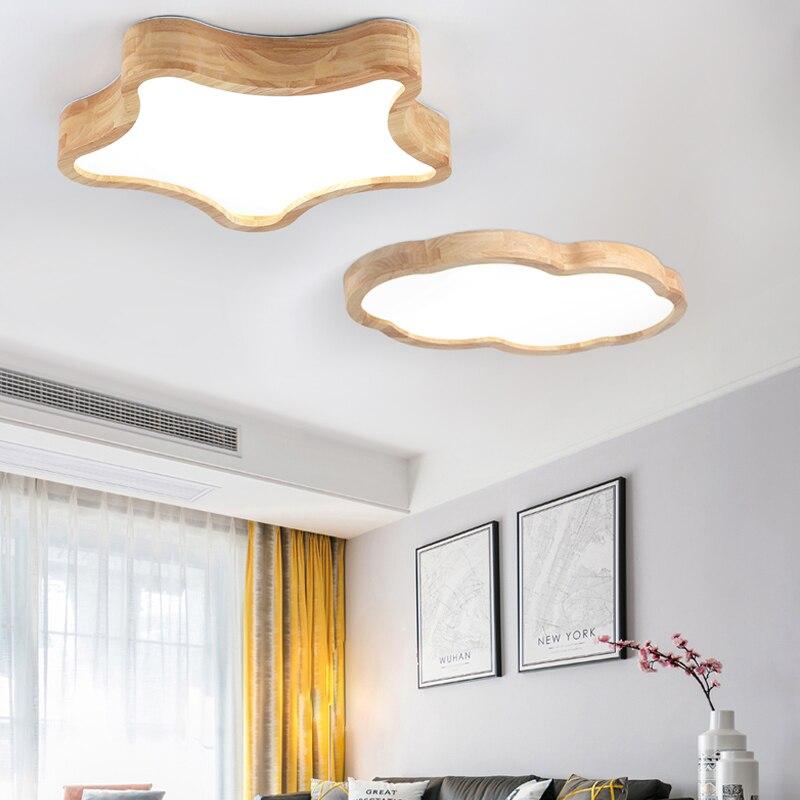 LED Nordic Wood Acryl DIY star cloud Ceiling Lights modern minimalist bedroom living room children s