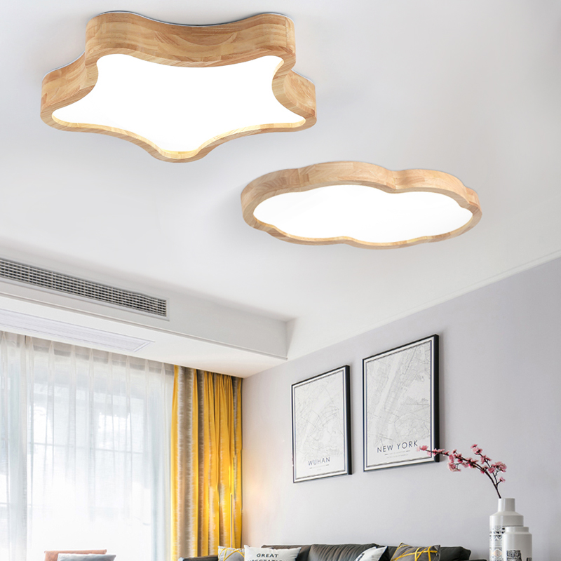 LED Nordic Wood Acryl DIY star&cloud Ceiling Lights modern minimalist bedroom living room childrens room lighting Lamps LED Nordic Wood Acryl DIY star&cloud Ceiling Lights modern minimalist bedroom living room childrens room lighting Lamps