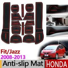Для Honda Fit Jazz 2008~ 2013 противоскользящая резиновая чашка Подушка дверной паз коврик аксессуары наклейки GE6 GE7 GE8/9 2009 2010 2011 2012