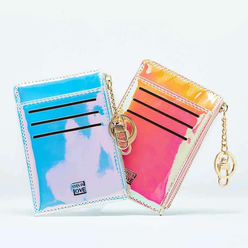 Женщина бумажник новые модные однотонные Цвет многофункциональный мини ключ монета держатель для карт кошелек бумажник Женский carteira feminina