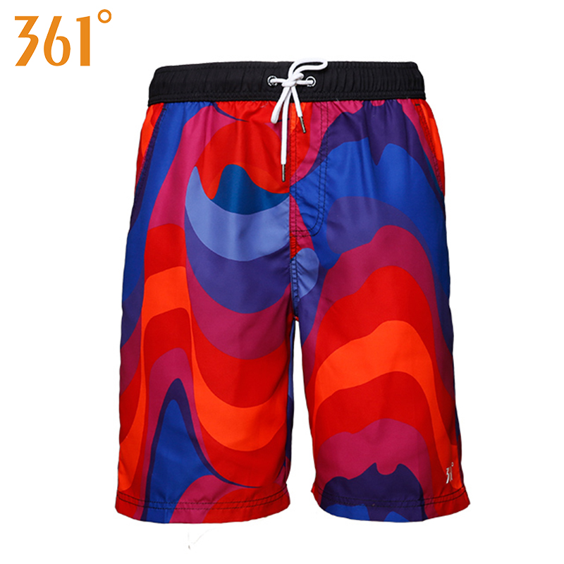 361 Men Beach Pants Quick Dry Swim   Shorts   Plus Size Surf   Board     shorts   Sports Swimming Trunks Swimsuit for Men Male Swim Wear