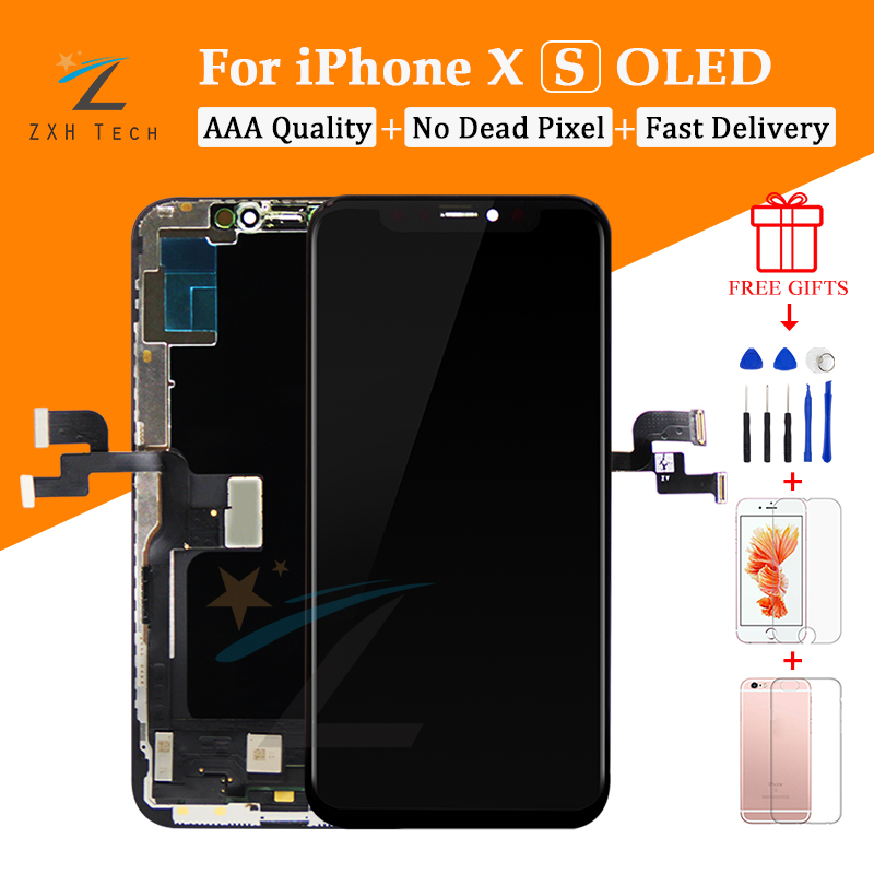1PCS Grade AAA Amoled Oled Screen For iPhone X XS XR LCD Glass 3D Touch Screen