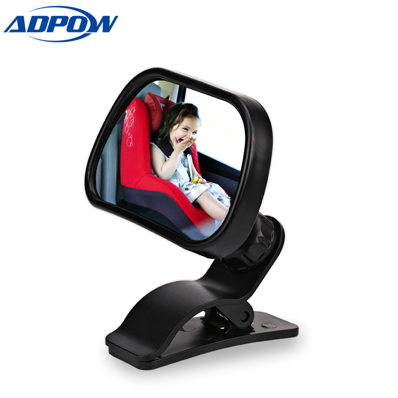 Car Back Seat View Baby Mirror 2 in 1 Mini Children Rear Convex Mirror Adjustable Auto Kids Monitor Safety Reverse Safety Seat