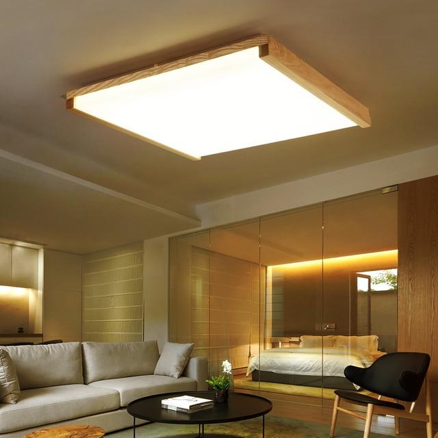 Madera ac100 240v llev el techo luces de la sala de estar - Luces para el techo ...