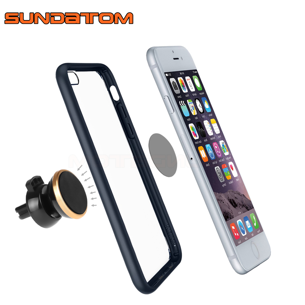 360 rotating universal car air vent mobile phone mount magnetic stand holder for iphone 6 plus. Black Bedroom Furniture Sets. Home Design Ideas