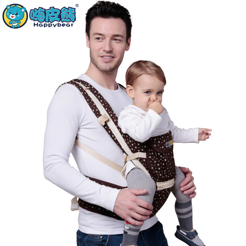 HappyBear hipseat newborn Multifunctional 9 in 1 carry style loading bear 20Kg Ergonomic baby carriers kid sling Kangaroo Baby tcyd baby backpacks carriers with hipseat colorful sling front carry face to face polyester activity gear 12 styles page 1