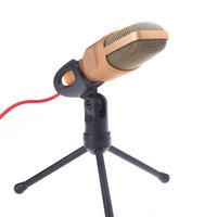 High Quality Professional Computer 3 5mm Microfono Condenser Microphone Mic With Stand Holder For PC Laptop