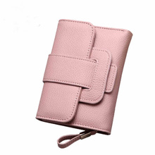 2019 Korean Fashion Short Women Wallets PU Leather Folding Female Purses Big Capacity Card Holder Wallet Causal Woman Coin Purse pu leather female plaid purses fashion woman small zipper wallet with coin purse women short wallets card holder wallet