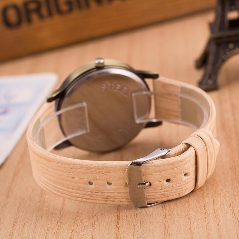 Reloj Mujer 2018 New Design Vintage Wood Grain Watch dla mężczyzn - Zegarki damskie - Zdjęcie 5