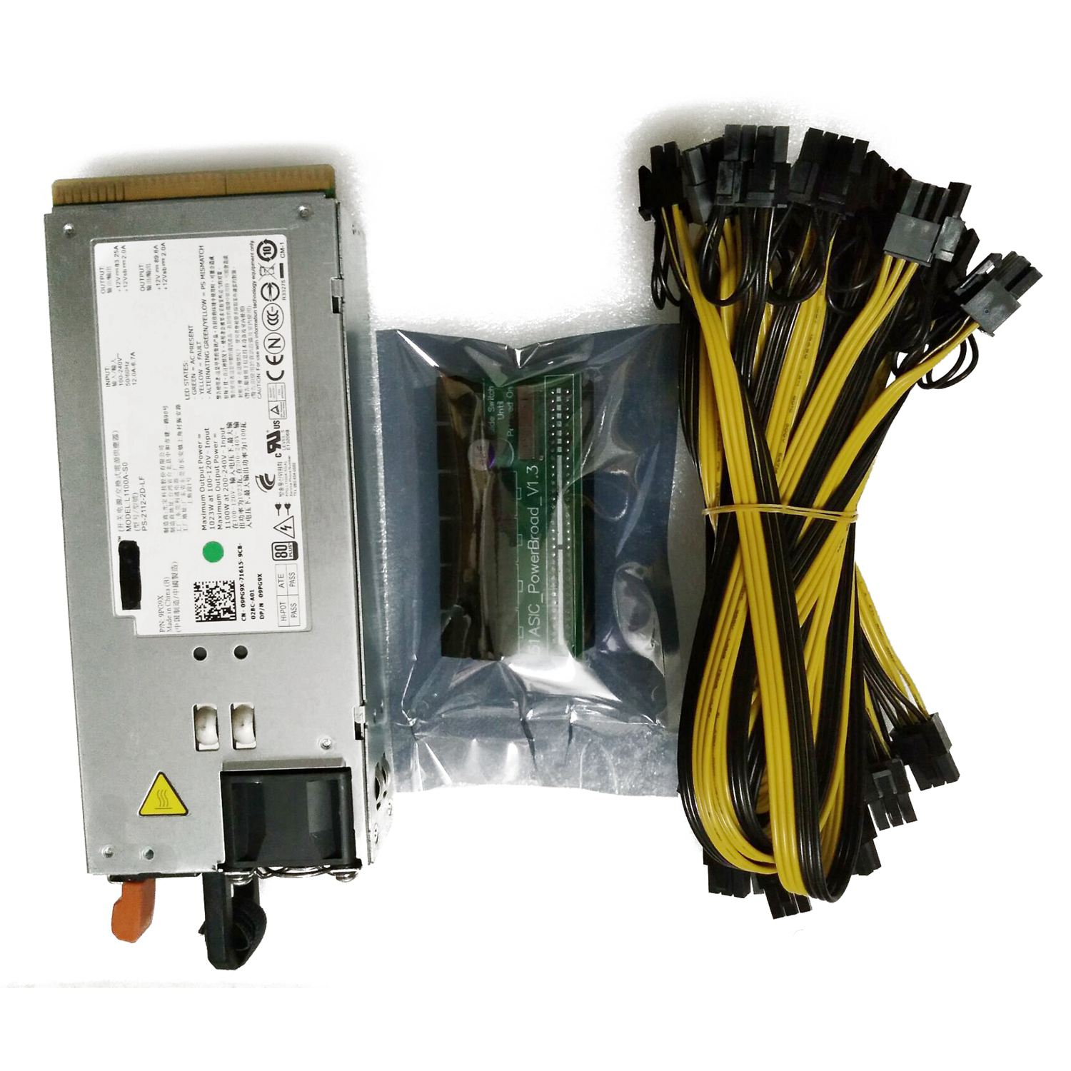 For DELL 1100W Power Supply F6V5T + Board-SCLL laptop small power board for dell v3400 almost 100% testing