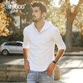 SIMWOOD 2017 Весна Лето Тонкие Толстовки Мужчины 100% Чистого Белья Кофты Мода Slim Fit Бренд Clothing CS1588