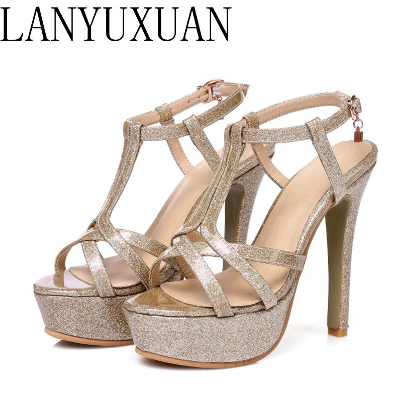 2017 New Summer Style Sandals Sexy fashion Big Size 30-48 Lady Super High Heel Women Pumps wedding Party shoes 431-7 все цены