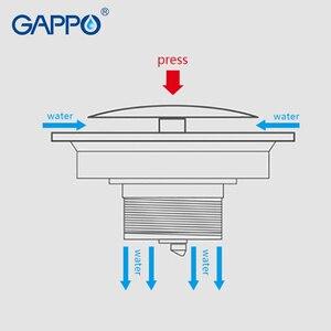 Image 4 - GAPPO filtre de vidange pour salle de bain, carré, anti odeur, douche pour sol, salle de bain douche bouchon couvercle