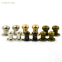 New arrive 30sets/lot alloy screw knob rivets handbag belt shoes watchband metal crafts buckles accessories DIY handmade
